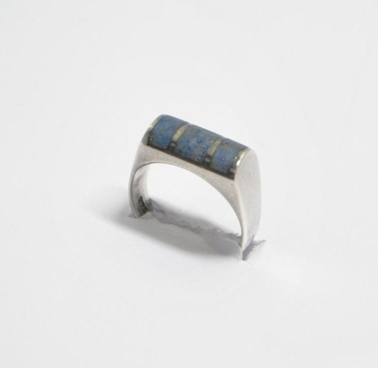 Bague amérindienne en lapis lazuli