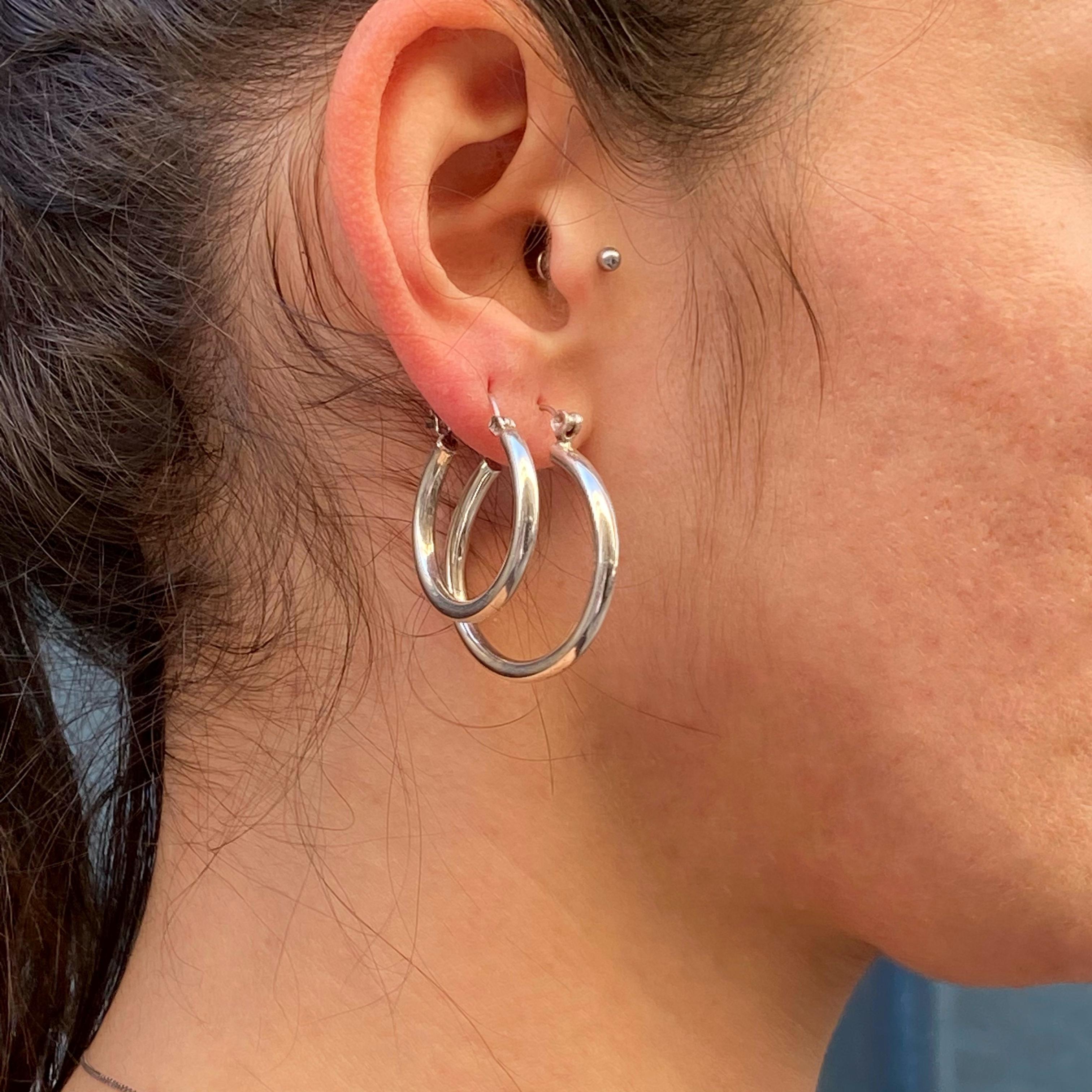 Boucles d'oreille créoles en argent 925