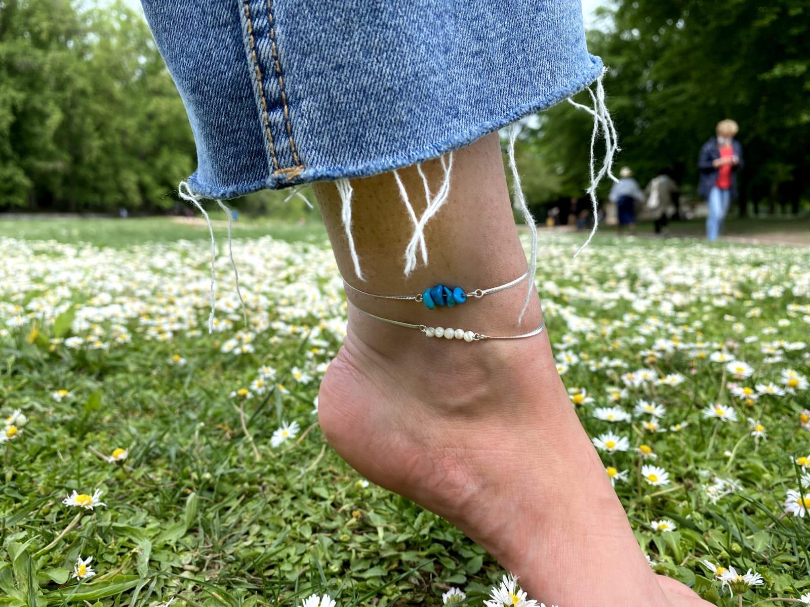 bracelet-cheville-turquoise-nacre